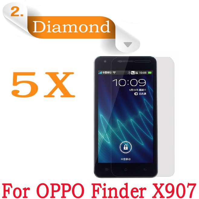 Oppo Finder X907 Diamond LCD Protective Film 5pcs/lot,free shipping Original Oppo X907 Mobile Phone Screen Protector Film(China (Mainland))