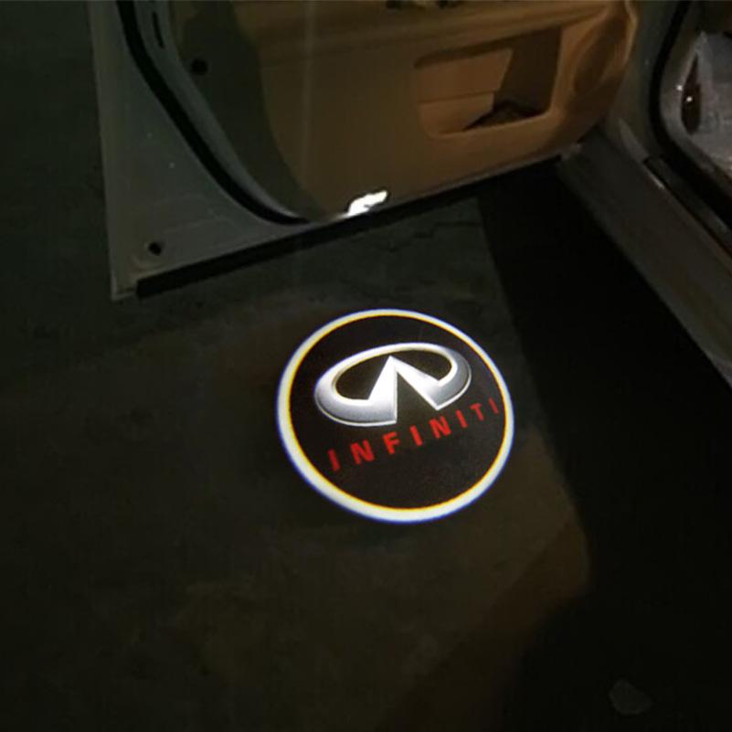LED Car Door Logo Projector Light Ghost Shadow Light For Infiniti fx35 fx37 f50 g35 g37 qx56 qx60 q50 ex35 with Infiniti logo<br><br>Aliexpress