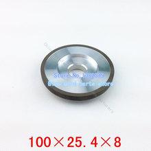 Nueva promoción de la correa Sander sola forma cóncava herramientas de perforación de la máquina muela de diamante sintético tamaño de la rueda 100 * 25.4 * 8