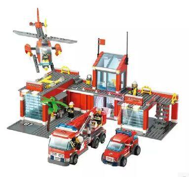 Free Shipping Fire Fight Series Command Center Building Block Set 774pcs Enlighten Educational DIY Construction Bricks Toys 8051(China (Mainland))