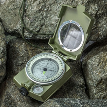 Buy Military Army Metal Prismatic Sighting Compass High Accuracy Waterproof Compass Pouch Outdoor Hiking Camping Climbing for $7.50 in AliExpress store