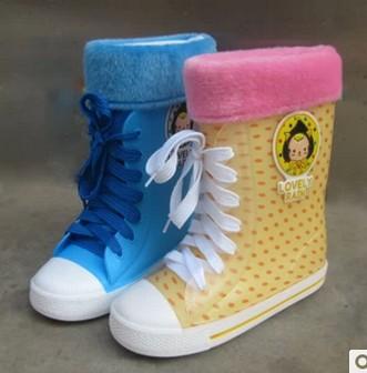 2016 new fashion children rain boots kids boys girls waterproof clear color good design environmental PVC free shipping #064(China (Mainland))