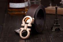 2014 new Best Quality First Class real genuine Leather Mens black designer Belts For Men Luxury Belts Alloy Buckle(China (Mainland))