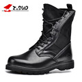 Z Suo High Quality Genuine Leather Men Boots Black Military Boots Tactical Boots Army Boots Men