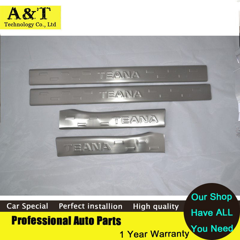 Фотография car styling Stainless Steel Inside door sill Protectors For Nissan Teana Altima 2013 exemption from postage Welcome Pedal