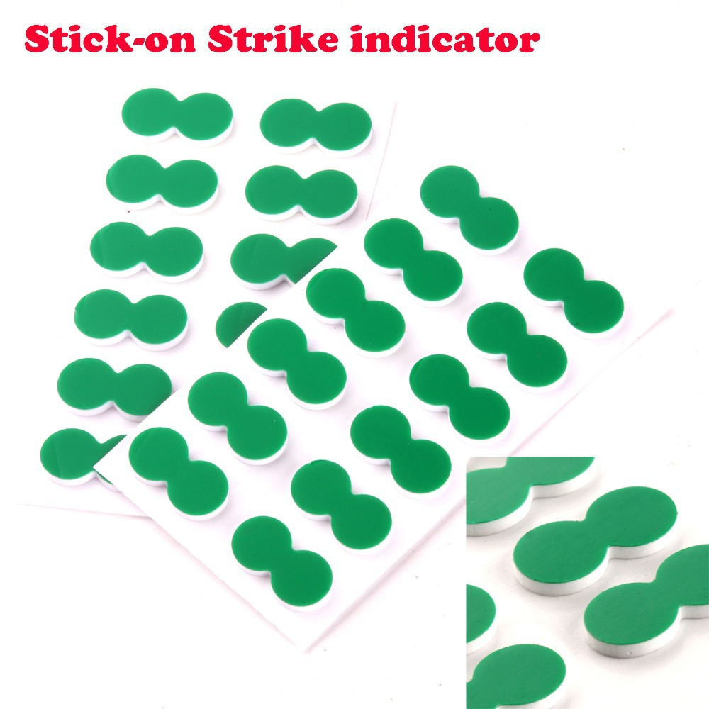 24pcs New Green Self-Adhesive Foam Fly Fishing Stick On Strike Indicator(China (Mainland))