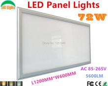 Wholesale 3pcs/lot 72W Ultra-thin Thickness 600x1200 Dimmable Panel Led Light Kitchen LED Lighting 60*120cm Led Panel CE&RoHS(China (Mainland))
