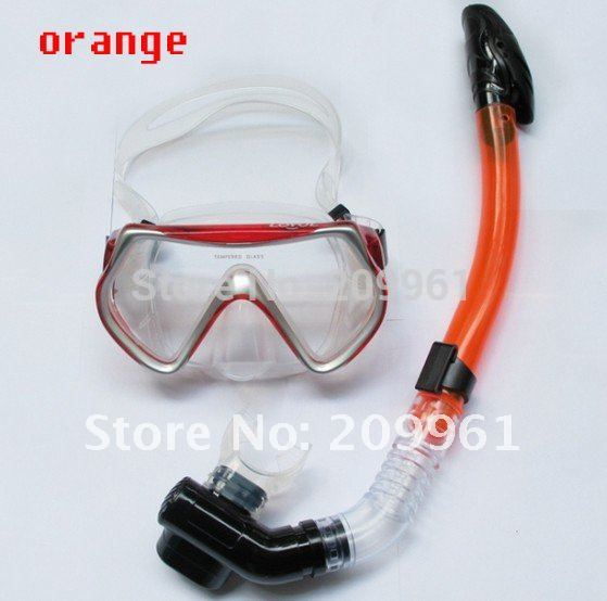 wholesale LOYOL 6 color combination diving mask full dry snorkel Breathing tube Under Water Swiming snorkel set free shipping<br><br>Aliexpress