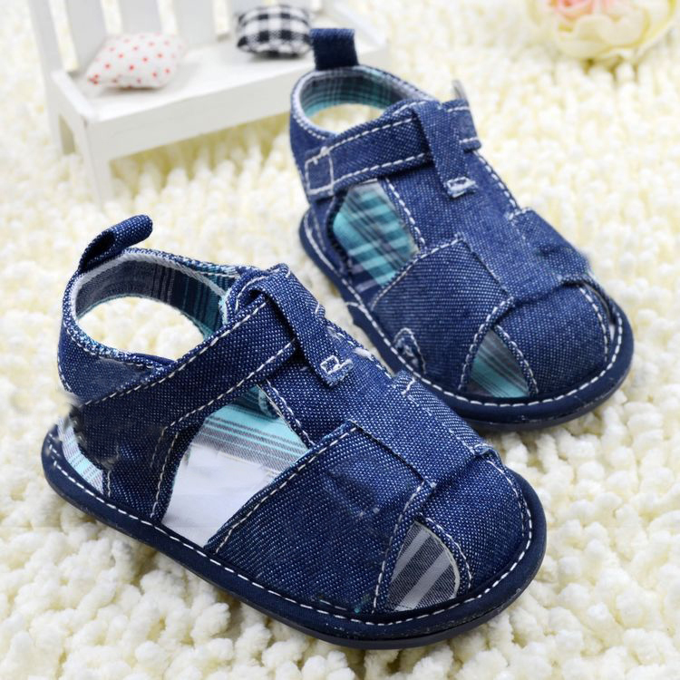 2014 New Blue jean baby sandal shoes baby shoes first walkers Free Drop Shipping