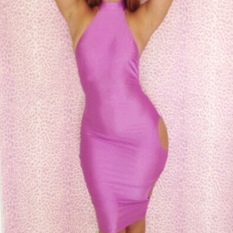 Most beautiful silk dresses sexy sleeveless backless side hollow Europe and America dress hot party dresses CD028(China (Mainland))