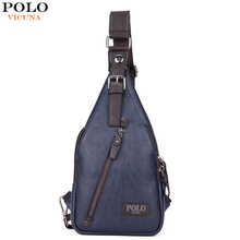 VICUNA POLO Famous Brand Theftproof Magnetic Button Open Leather Mens Chest Bags Fashion Travel Crossbody Bag Man Messenger Bag(China (Mainland))