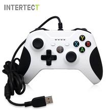 Usb wired controller para xbox one slim video game joystick mando para o microsoft xbox one s controle gamepad joypad para pc com windows(China (Mainland))