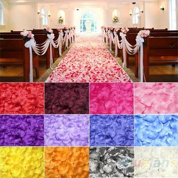 NEW100pcs Silk Rose Flower Petals Leaves Wedding Table Decorations Event Party Supplies Multi Color Wreaths