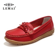 Shoes Woman 2017 Genuine Leather Women Shoes Flats 4Colors Loafers Slip On Women's Flat Shoes Moccasins #WD2856(China (Mainland))