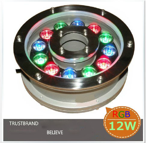 High Aluminum 12W LED Underwater Lamps Swimming Pool Light IP68 Waterscape Light 24V Free Shipping(China (Mainland))