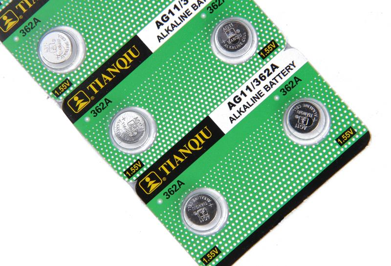 10x TianQiu AG11/362A LR58 362/361 L721 AG11 1.55V Alkaline Button Cell Coin Battery Wholesale Factory Price High Capacity Watch(China (Mainland))