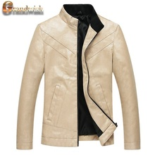 2016 New Fashion Men's PU Jackets Stand Collar Mens Leather Jackets Casual Outerwear for Men Plus Size 5XL, CA117(China (Mainland))
