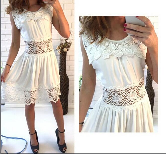 Женское платье White casual dress 2015 o vestidos LYA1430 женское платье women summer casual dress 2015 o vestidos lya1497
