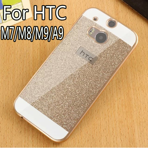 Luxury Bling Case For HTC One M7/M8/M9/A9 Hard Shinning Protective back cover Sparkling cases For HTC One M7/M8/M9/A9 shell(China (Mainland))