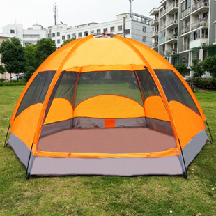 4-5 Person Big Camping Tents,Queen Size Outdoor Camping Tents ,4-5 person suitable ,240*240*145cm(China (Mainland))