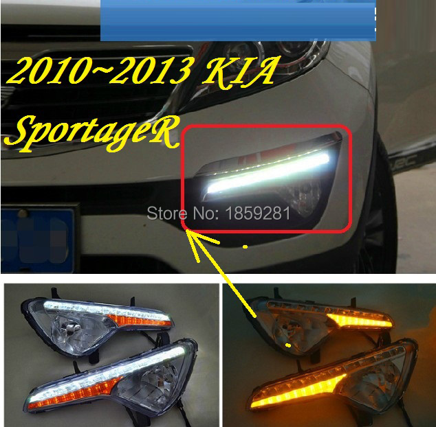 2011~2014 KIA sportageR daytime light,Free ship to your door!LED,KIA sportageR fog light,2ps/set