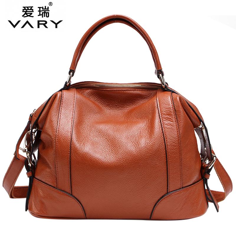 2015 women's genuine leather handbag cowhide shoulder bag women's messenger bags big bag fashion bolsas femininas