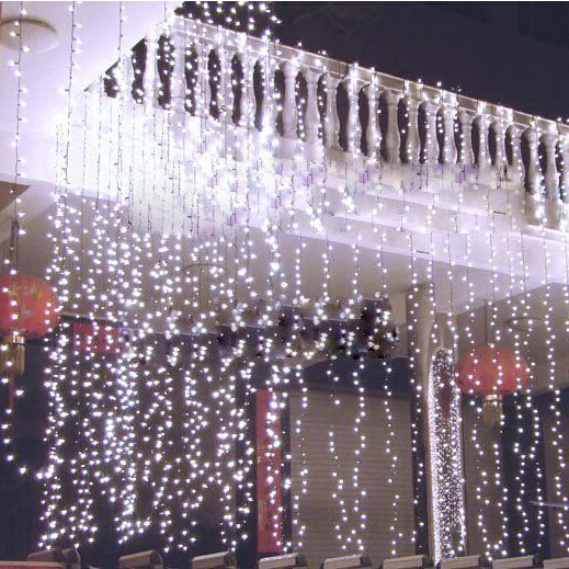 2 * 1m 104 bulbs LED Curtains Christmas lights new year holiday party wedding decoration lamps luminaria Garland string lighting(China (Mainland))