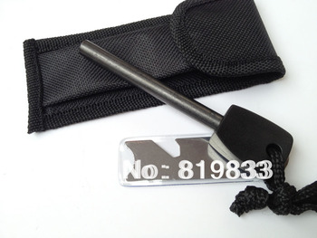 Hot Sales! Replacement Survival Magnesium Flint Stone Fire Starter,(8*80mm)1 piece,Free Shipping!