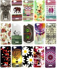 TPU IMD Phone Case For Wiko Rainbow For Explay Fresh Soft Protector Back Cover Flower Owl painting For Wiko Rainbow Mobile Skins