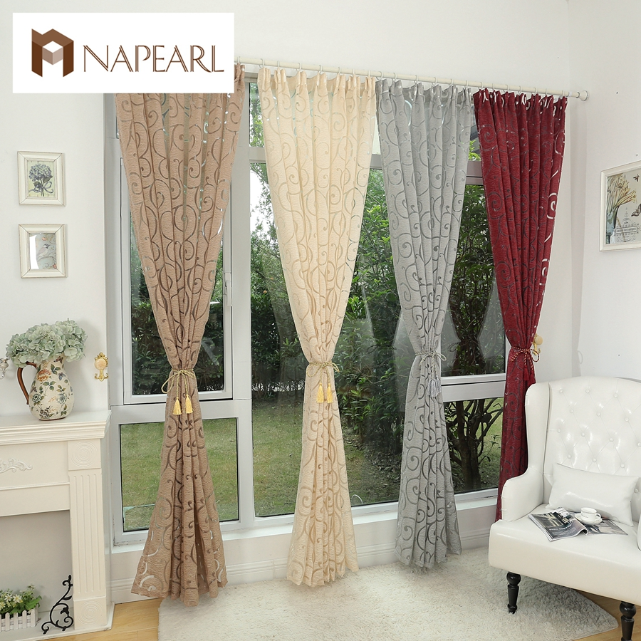 Fashion style jacquard window treatments cortinas luxury for Modern curtains and blinds