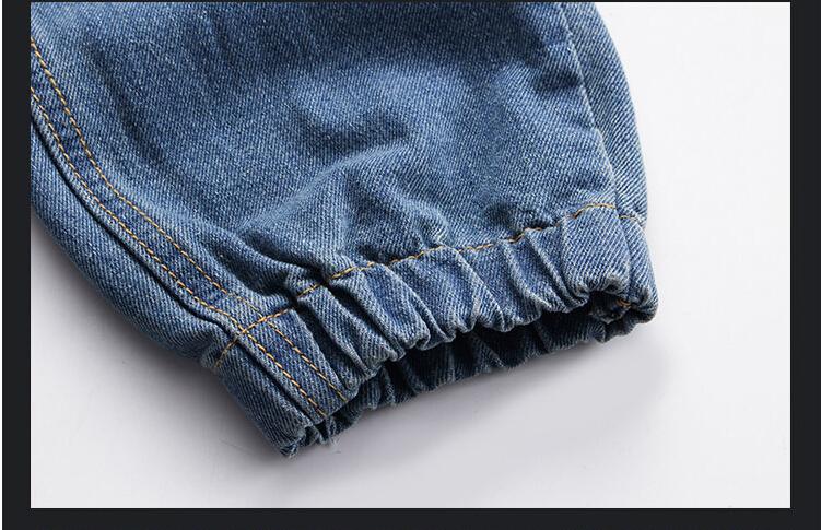 Fashion Plus Size Denim Men's jeans men Cotton Fit Drawstring jogger pants Sweatpants Men's Trousers Pants M~5XL Blue Cargo