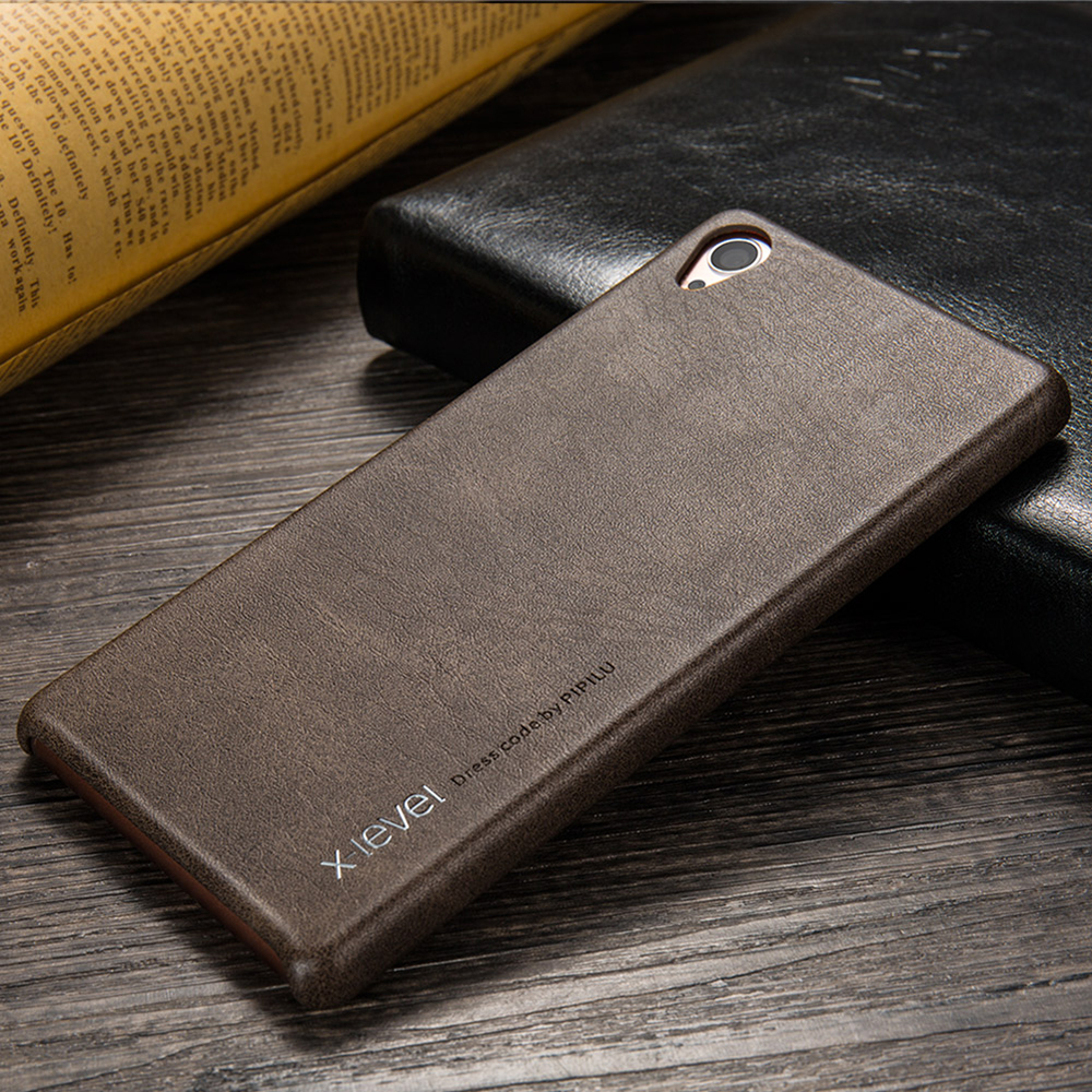 X-Level New Vintage Leather Phone Case For Sony Xperia Z3 Ultra thin Protective Back Cover For Sony Z3 Case(China (Mainland))