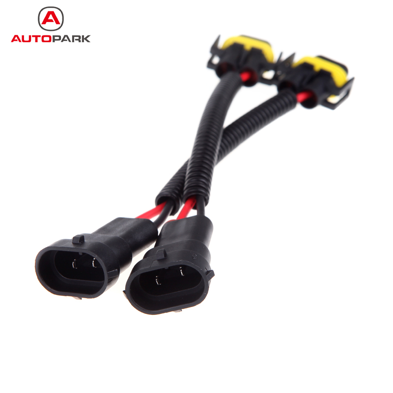 2pcs h8 h9 h11 wiring harness socket car wire connector cable adapter for hid led foglight