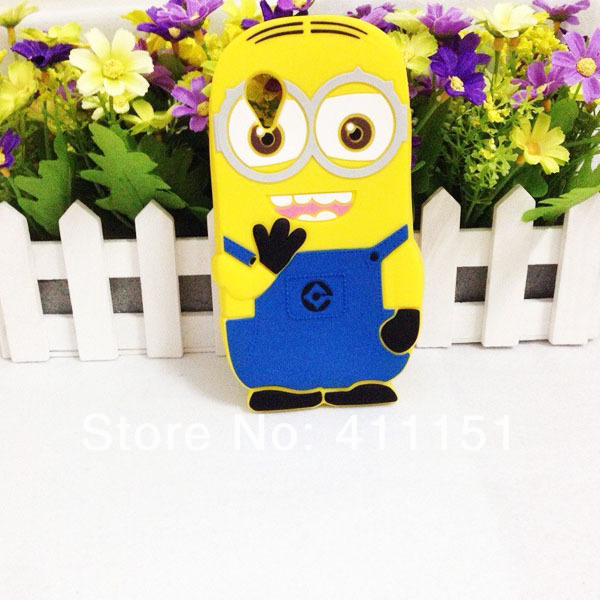 3D Despicable 2 Minions Soft Silicone Back Cover Case Goolge LG Nexus 5 - ALEX ZHOU Store store
