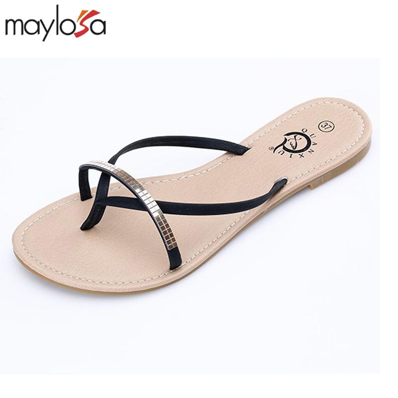 2016 summer new fashion women sandals lady slippers Diamond Ladies word drag home female slippers beach flip flops size 36-41<br><br>Aliexpress