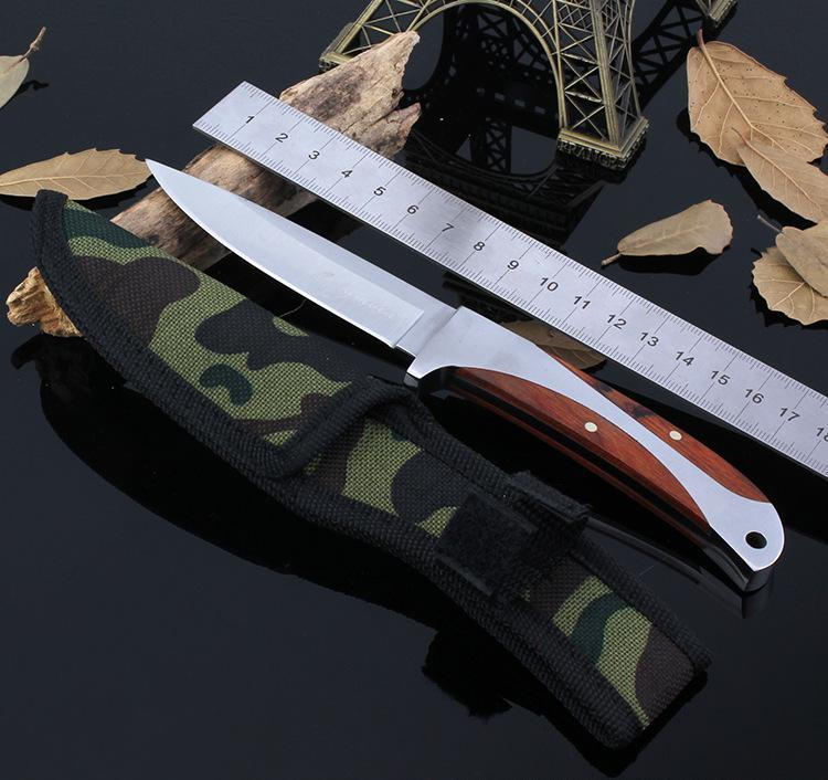 Buy Fixed Blade Stainless Steel Knife Outdoor Survival Tool Tactical Hunting Knife for Self-defense Cambing Household cheap