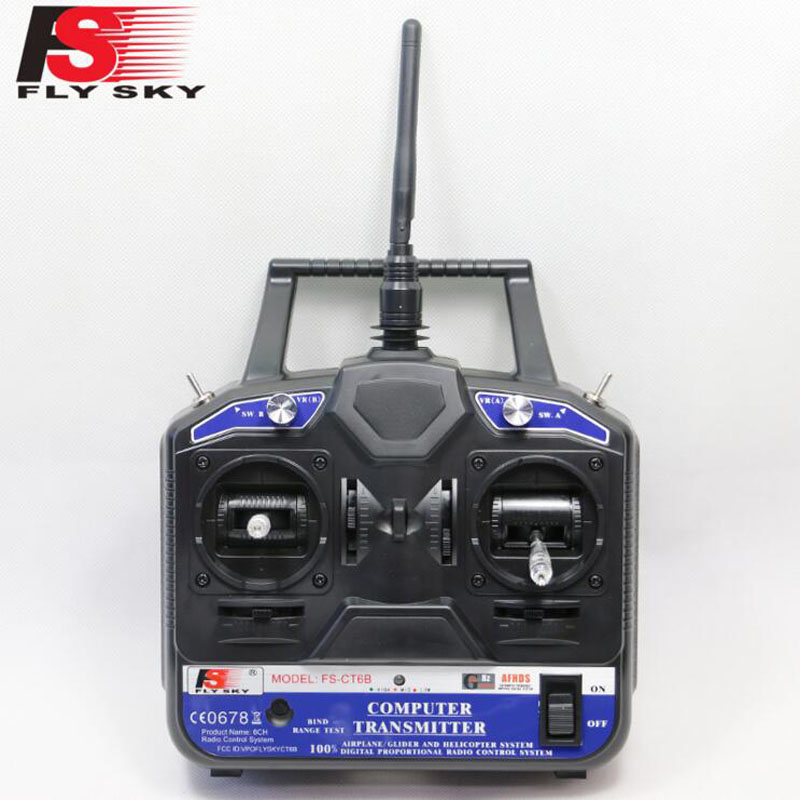 5pcs Flysky FS 2.4G 6ch rc Radio remote control Transmitter & Receiver CT6B for 3D RC helicopter airplane with tracking number(China (Mainland))