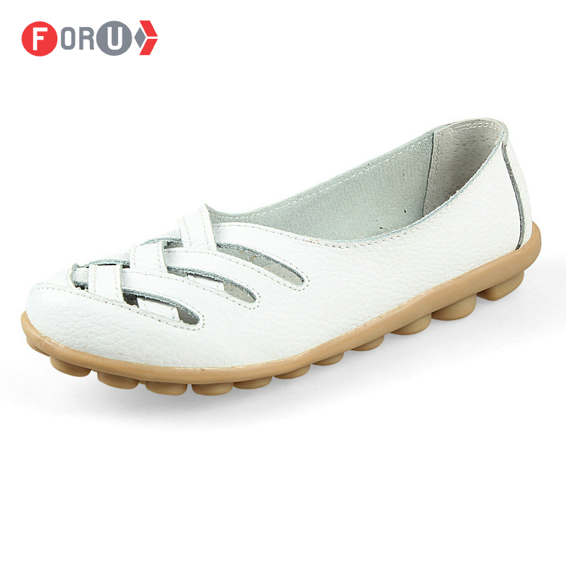 Гаджет  New 2014 women genuine leather shoes women flats fashion slip on woman loafer wholesale flats shoes sneakers size 35~40 None Обувь