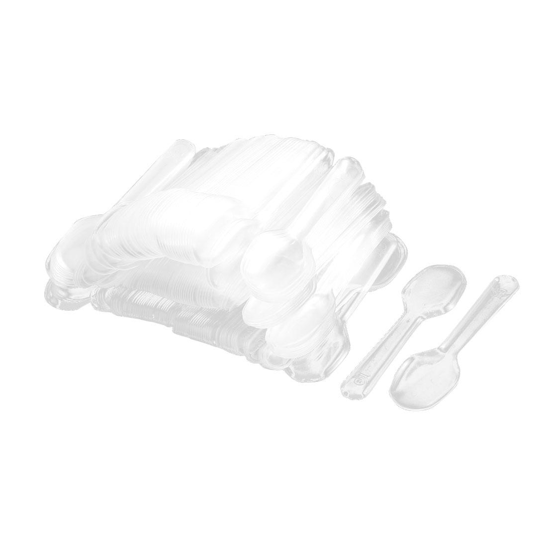 200 Pcs/lot Wedding Birthday Party Plastic Ice cream Frozen Yogurt Disposable Spoons(China (Mainland))
