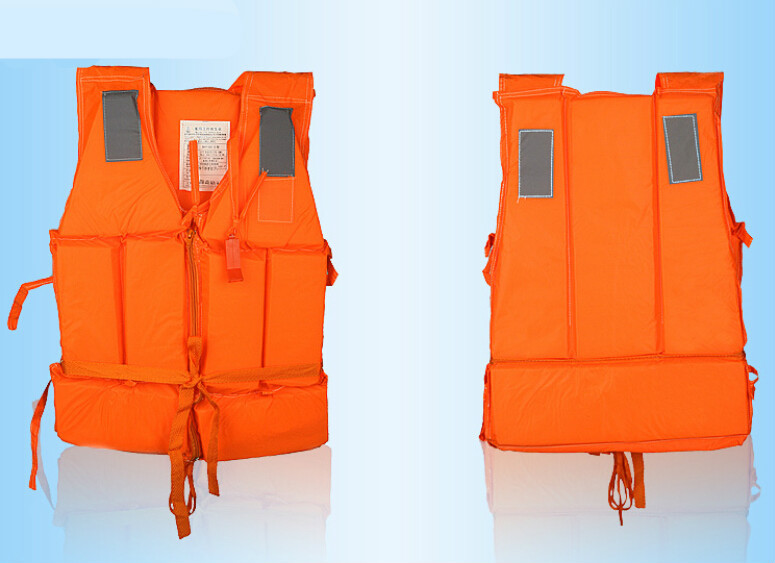 Free Shipping Water Sports Adult Zipper Life Vest, Men's Life Jacket, Women's Boating Drifting Surfing Life Jackets Orange Color(China (Mainland))