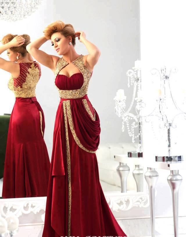 High Quality Red Gold Arabic Prom Dress-Buy Cheap Red Gold Arabic ...