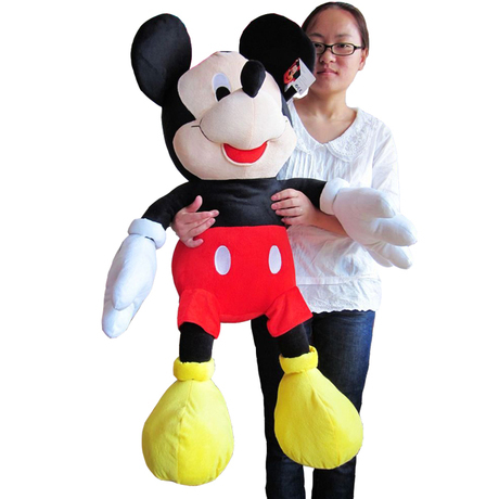 lovely plush toy mickey mouse toy doll birthday gift the boy mickey about 100cm(China (Mainland))