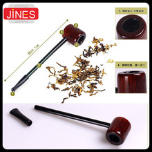 Mini Straight Shank Tobacco pipe New Business Men cigarette holder Handmake wood smoking Cigar Fashion Gift free shipping