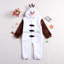 Free shipping Frozen Olaf Costume Onesies Pajamas Kigurumi Jumpsuit Hoodies Adults Cosplay Costumes S-M-L-XL fit 2-7Y(China (Mainland))