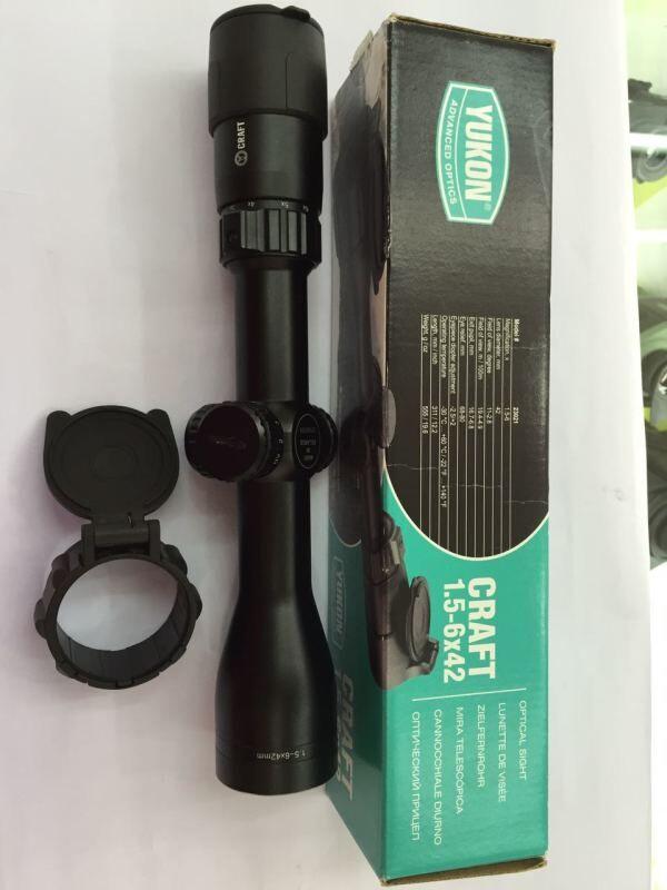 free shipping Yukon 23021 Belarus Craft  1,5-6x42 optical sight day vision<br><br>Aliexpress