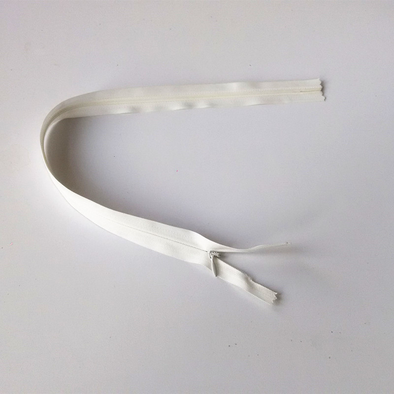 45cm Invisible Zippers White Color wholeslae(10pieces/lot)3# DIY Nylon Coil Zipper For Sewing Pillow Tailor Tool Accessory(China (Mainland))