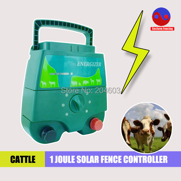 free shipping portable power shock solar fencing controller charger energiser for livestock and animals(China (Mainland))