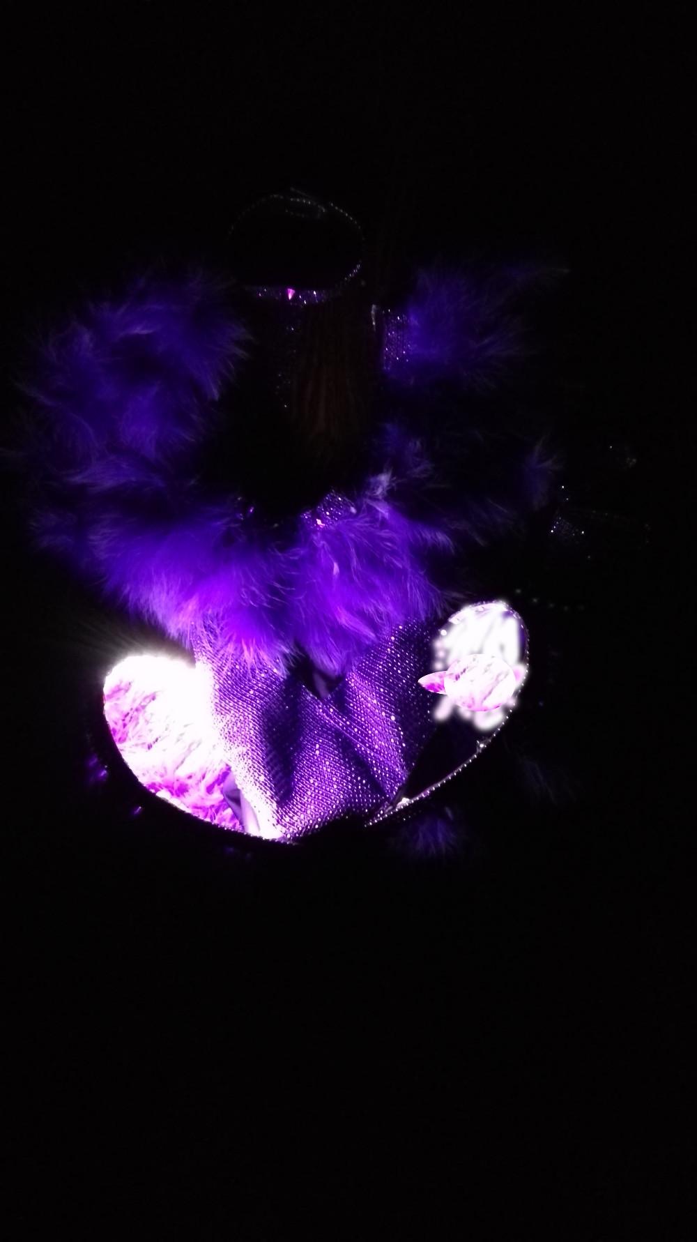 Led light costume purple-3