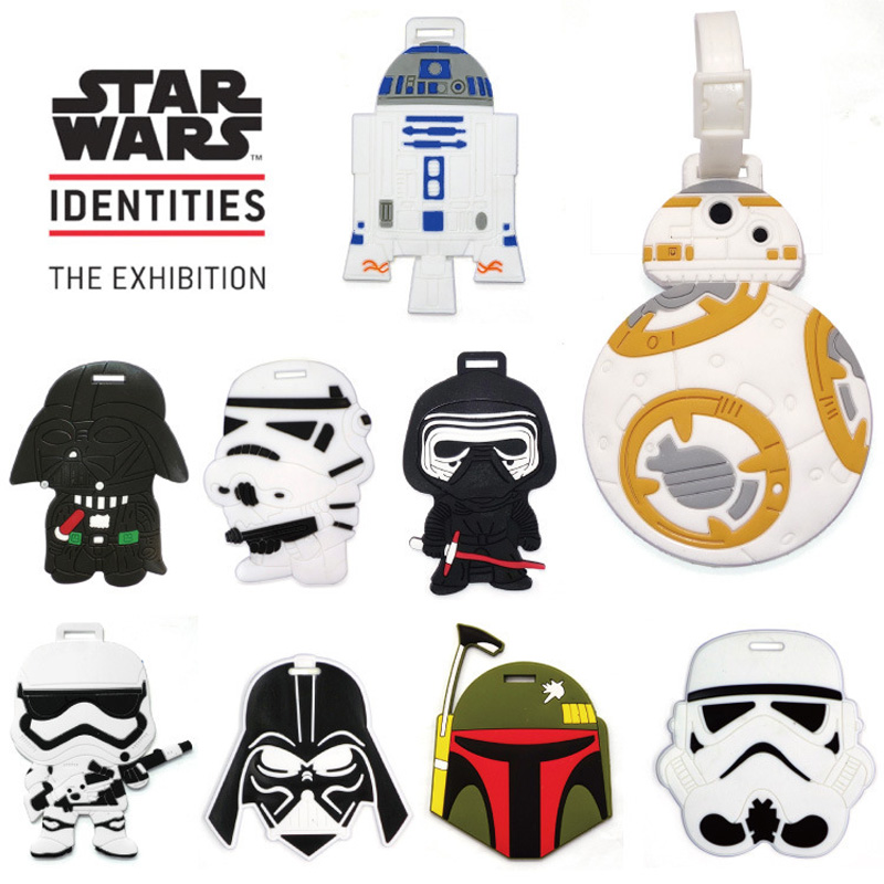 1PC Luggage Tags Travel Bags Accessories Classic Lovely Cartoon Film Star Wars Stormtrooper & Black Knight Suitcase PVC Name(China (Mainland))