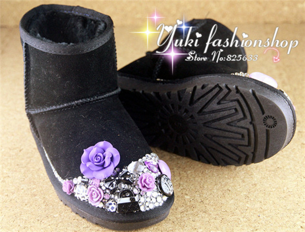 2015 new ankle warm boots short plush ladies snow shoes for women winter boots 35-40 free shipping Diamond pearl women  boots<br><br>Aliexpress
